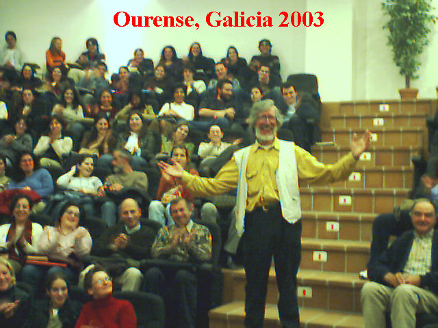Richard Marsh at Escola Oficial de Idiomas in Orense, Galicia, Spain: March 2003. Photo by Iain Colquhoun.